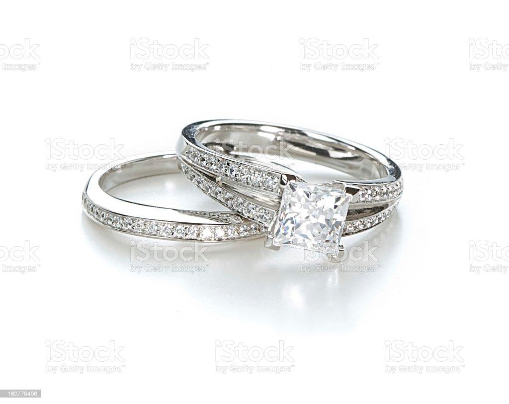 Engagement Ring Set stock photo