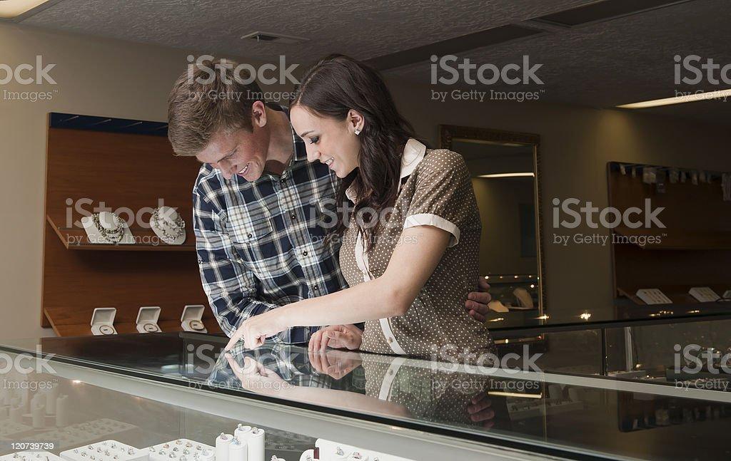 Engagement ring shopping royalty-free stock photo