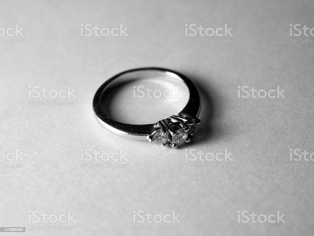 Engagment Ring (B&W) royalty-free stock photo