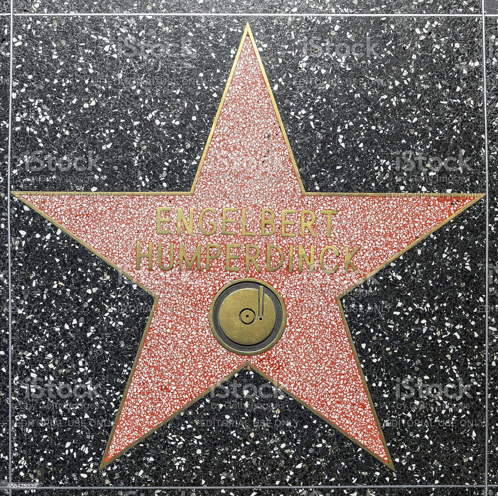 Engelbert Humperdnicks star on Hollywood Walk of Fame royalty-free stock photo