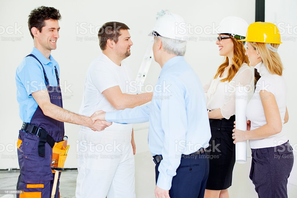 Engeneers Team At Construction Site. royalty-free stock photo