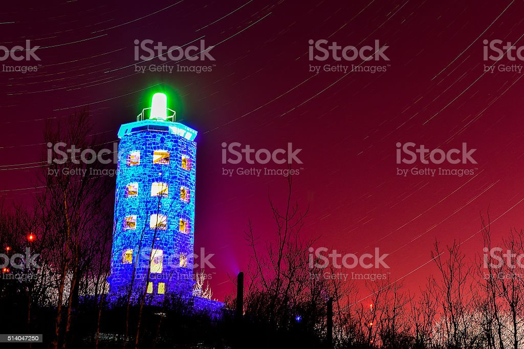 Enger Tower and Stars royalty-free stock photo