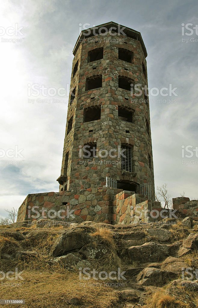 Enger Tower at Dusk stock photo