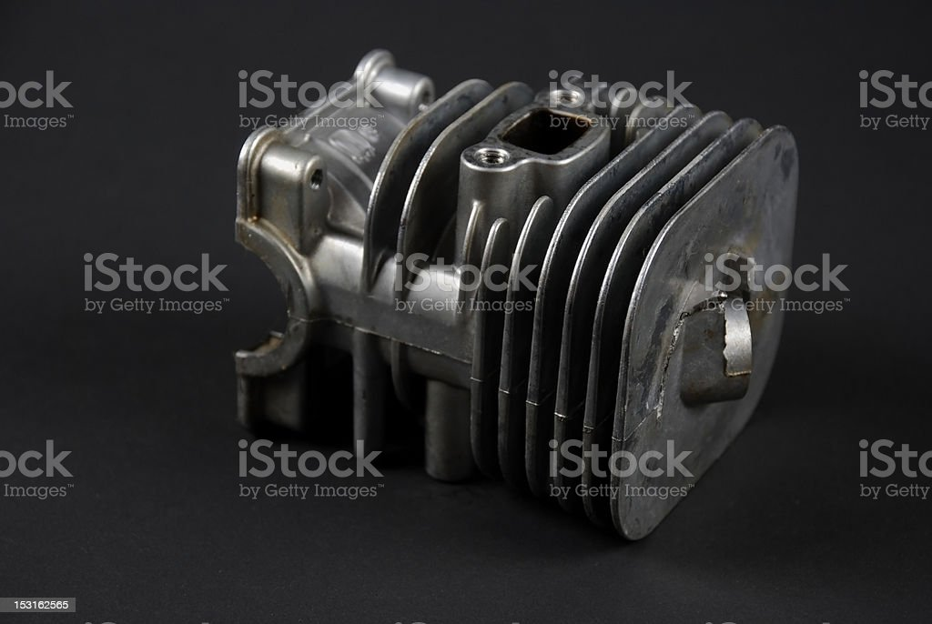 Engine and carburator stock photo