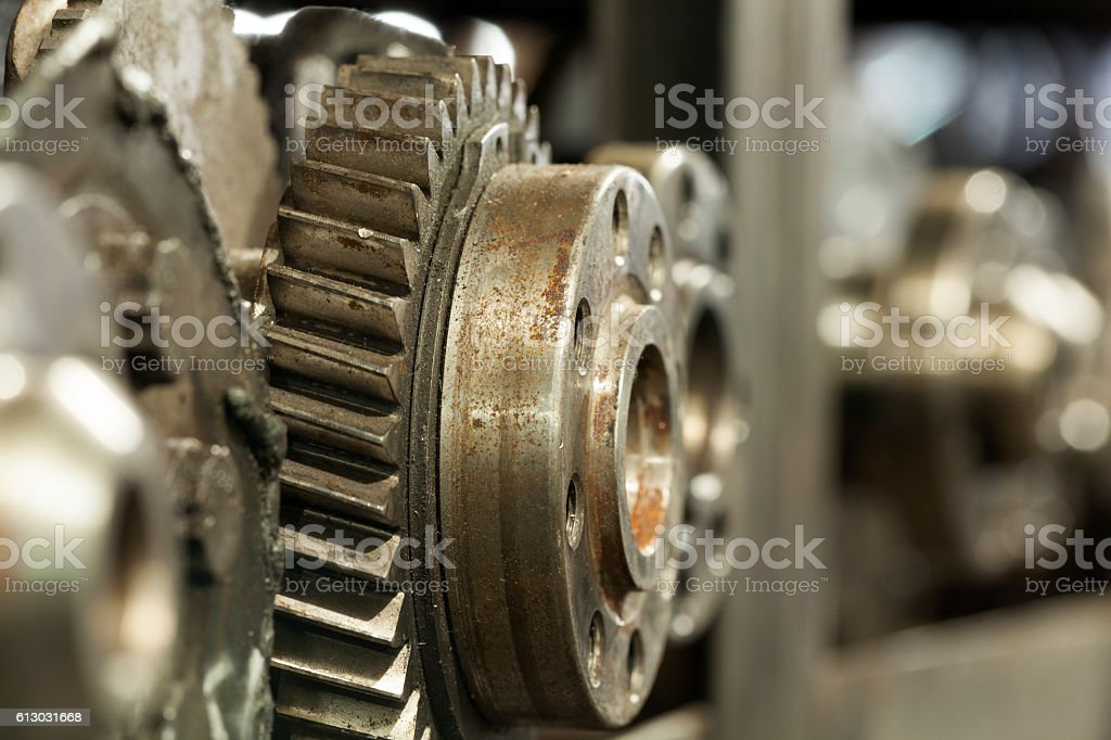 Engine and Parts stock photo