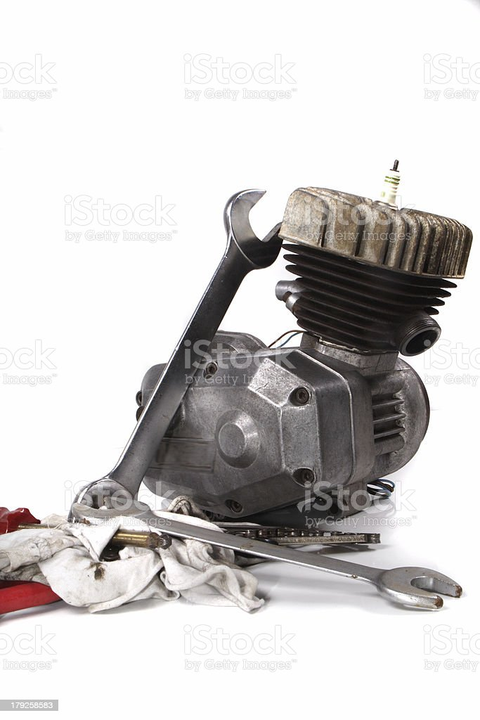 engine and tools royalty-free stock photo
