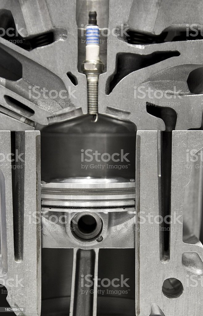 Engine Combustion Chamber royalty-free stock photo