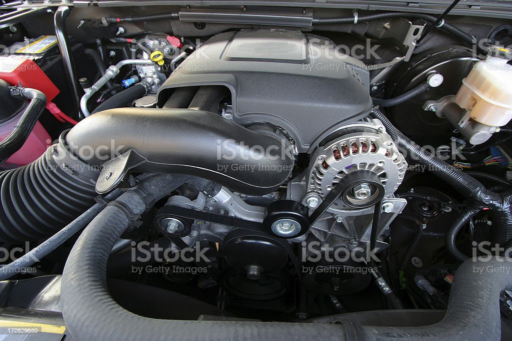 Engine Compartment stock photo
