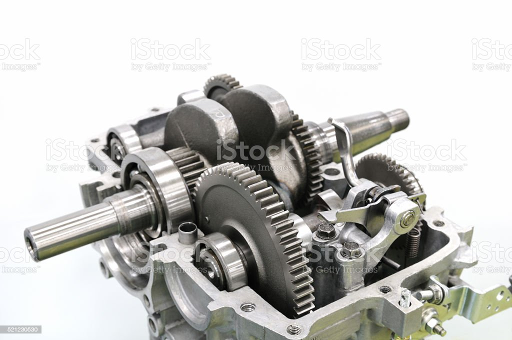 Engine components stock photo