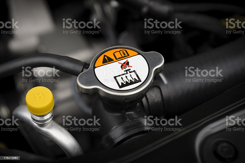 Engine Coolant Radiator Cap stock photo