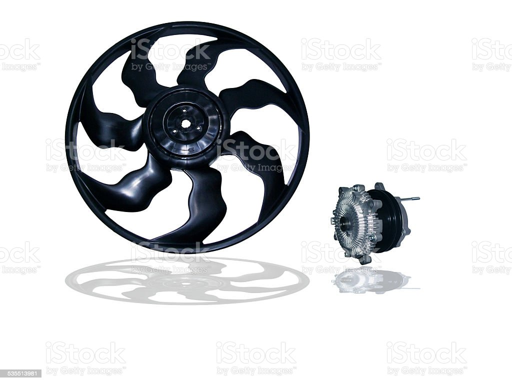 Engine Cooling Fan stock photo