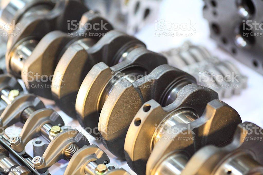Engine - Crank shaft stock photo