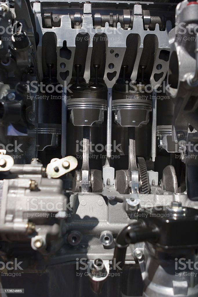 Engine: Cut Away Cross Section stock photo