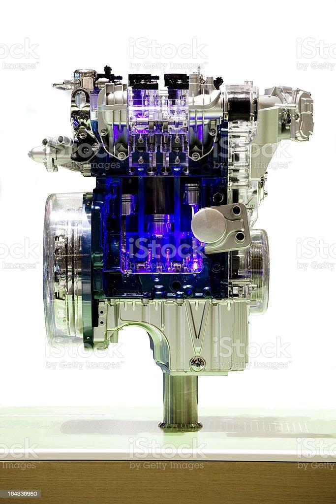 Engine exhibition stock photo