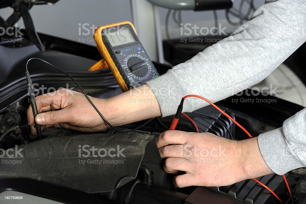 Engine failure detection with multi meter stock photo