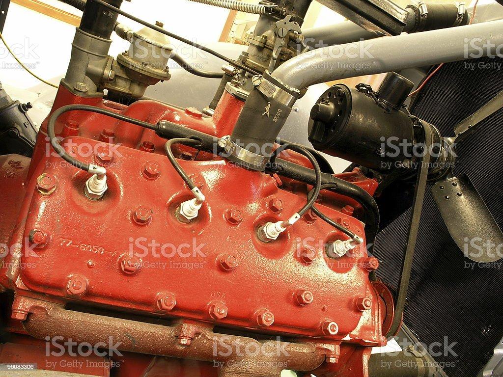 Engine - Flathead V-8 royalty-free stock photo