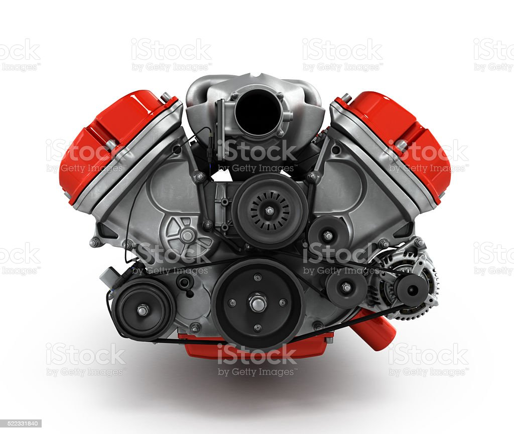 engine gearbox isolated on a white background 3d render stock photo