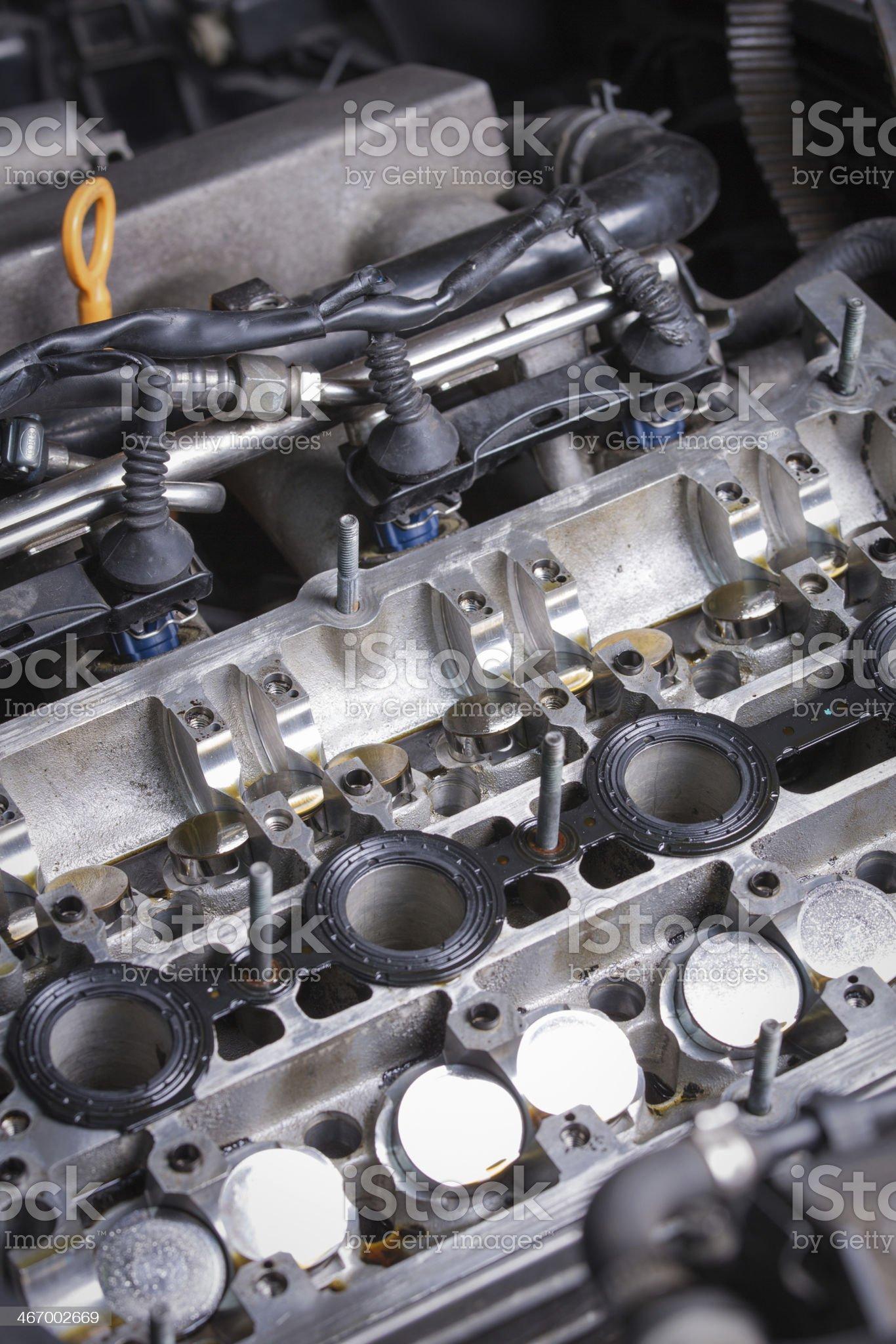 Engine inside royalty-free stock photo