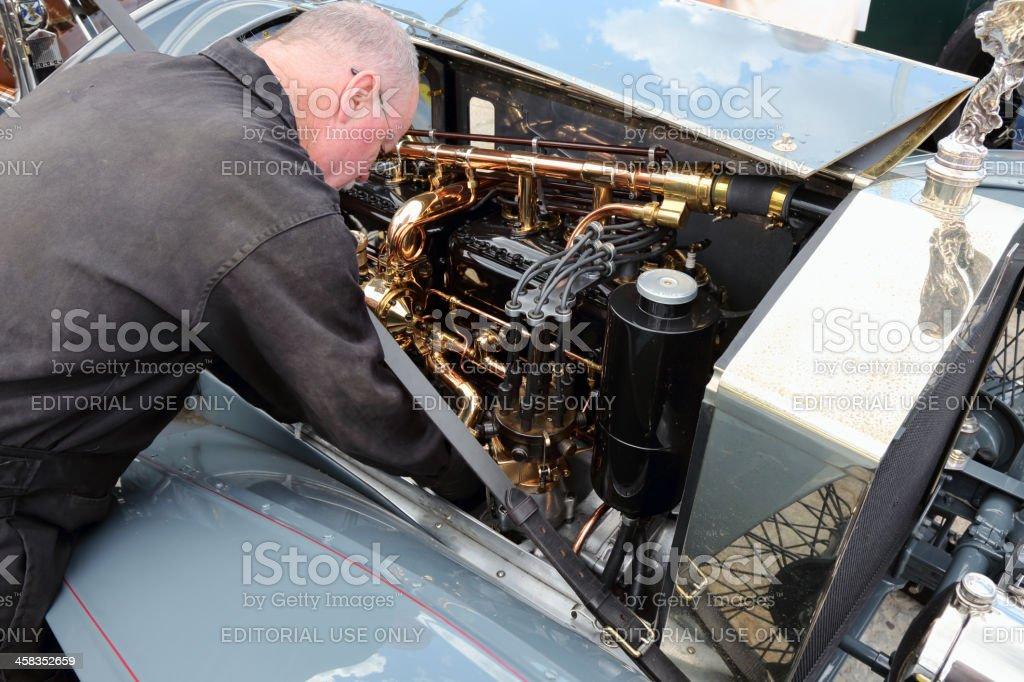 Engine lubrication royalty-free stock photo