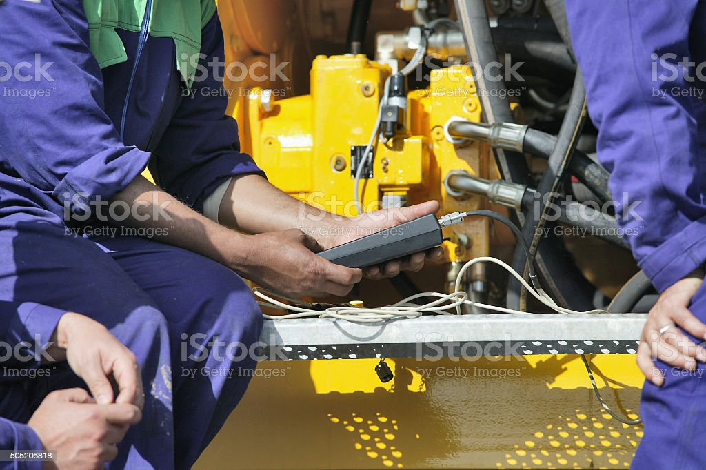 Engine maintenance stock photo