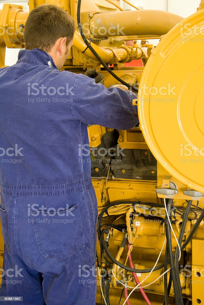 Engine maintenance royalty-free stock photo