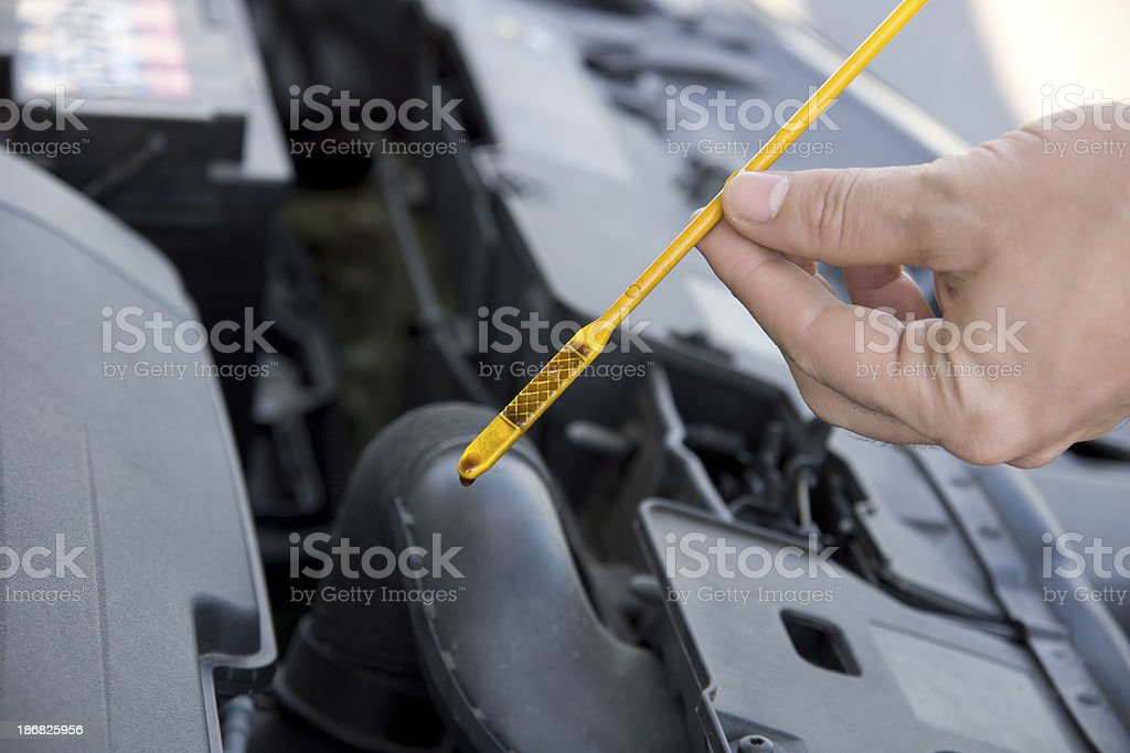 engine oil dipstick royalty-free stock photo