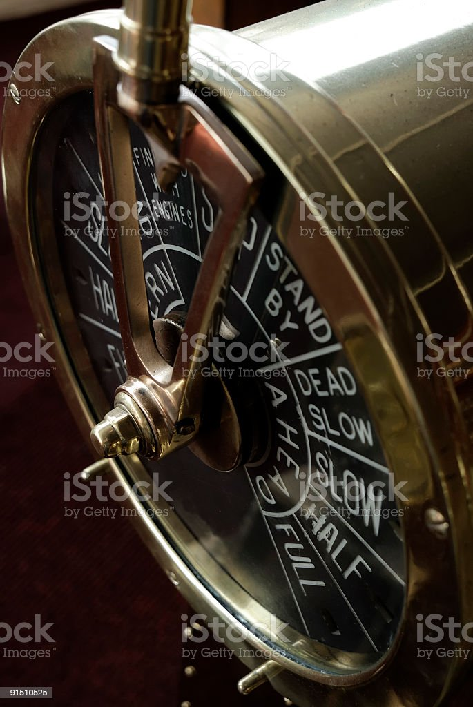 Engine order telegraph stock photo