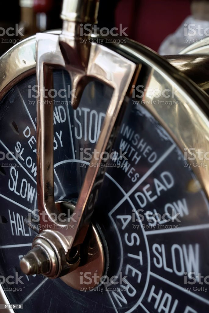 engine order telegraph royalty-free stock photo