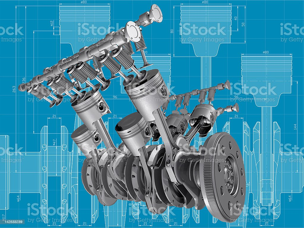 Engine. stock photo