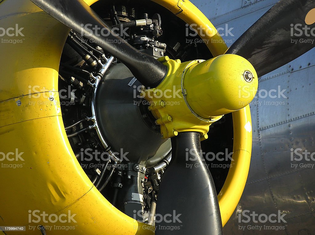 B-17G Engine royalty-free stock photo