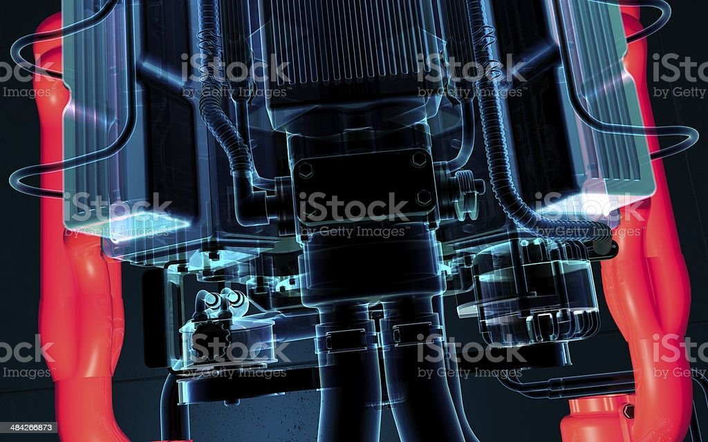V8 Engine royalty-free stock photo
