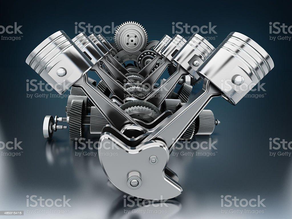 V8 engine stock photo