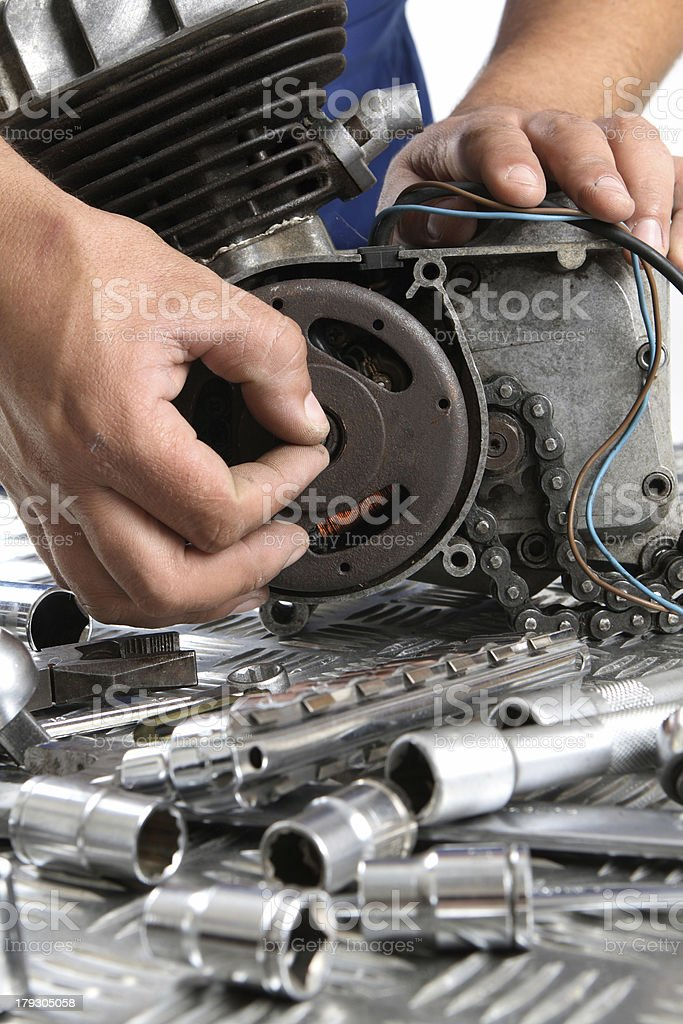 engine repairs royalty-free stock photo