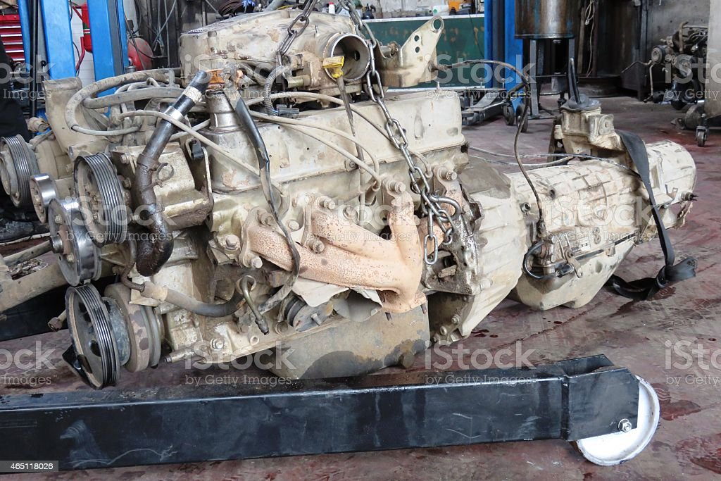 Engine Replacement stock photo