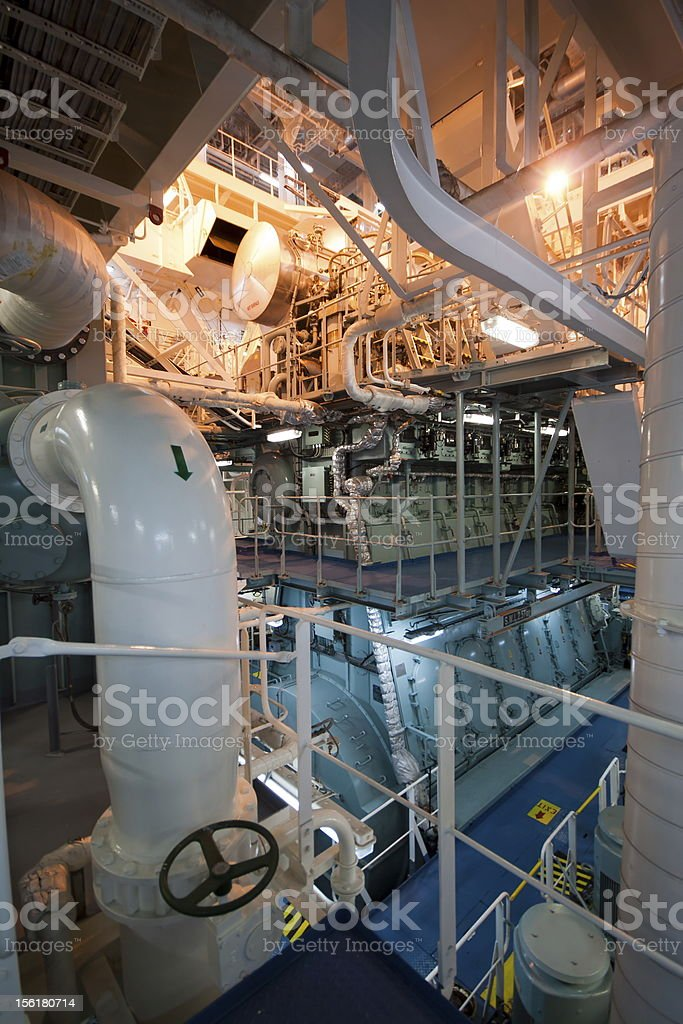 Engine room stock photo