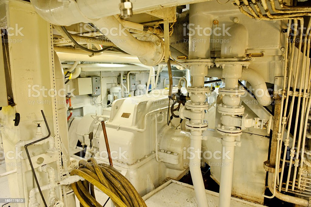 Engine room royalty-free stock photo