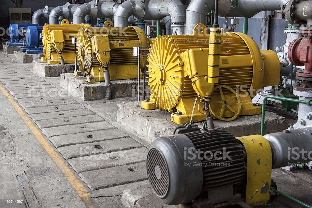 Engine room stock photo