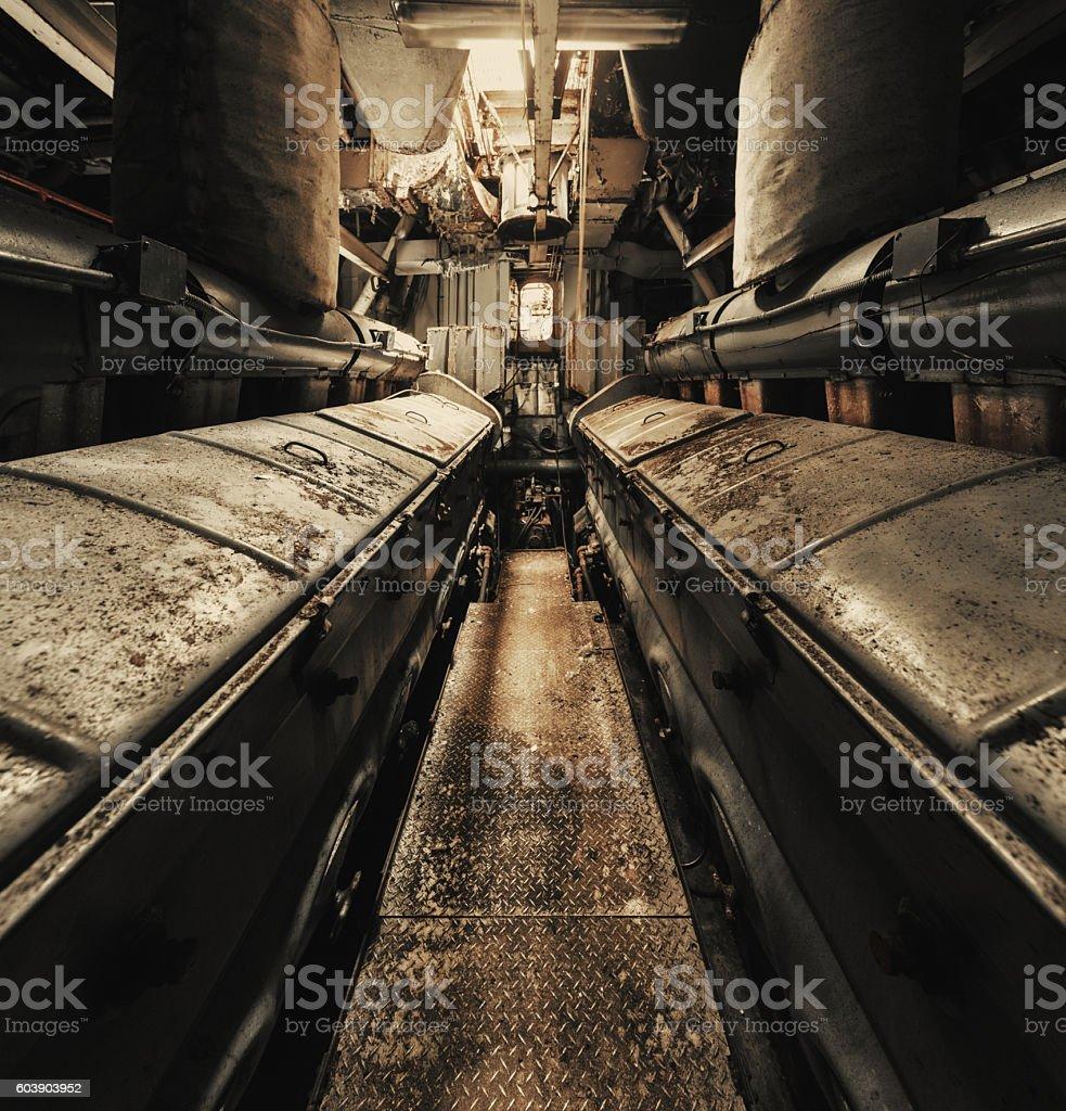 Engine Room Symmetry stock photo