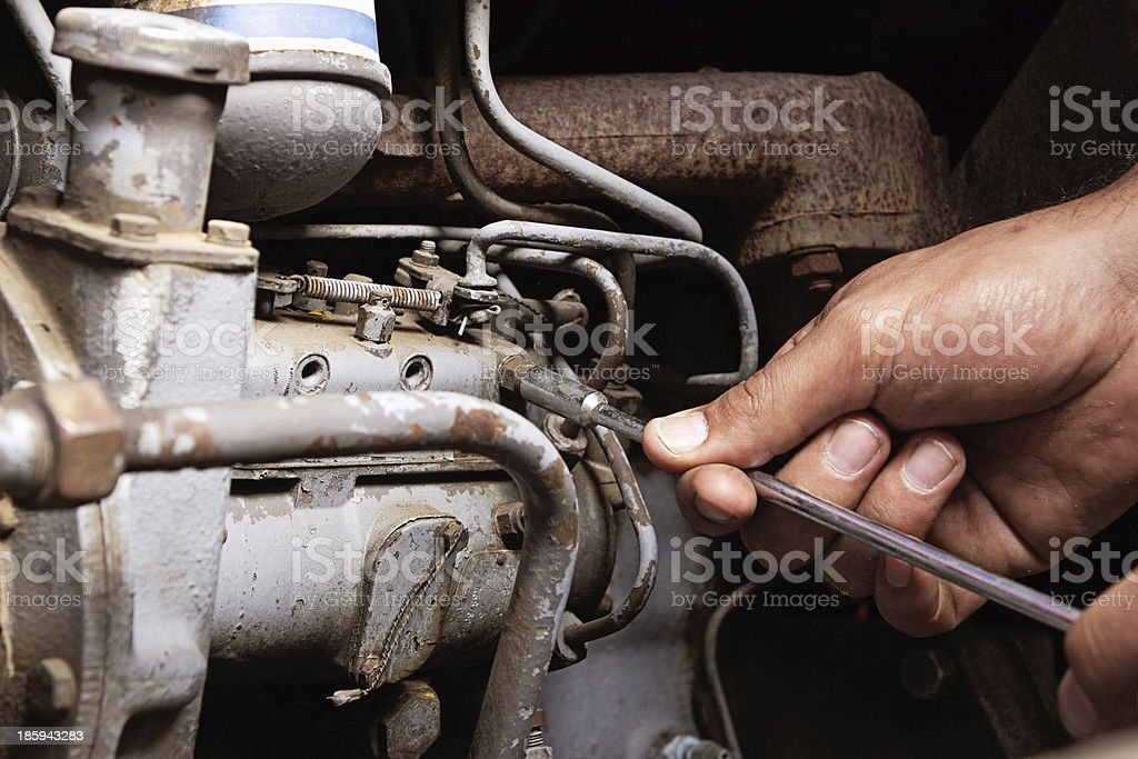 Engine service royalty-free stock photo