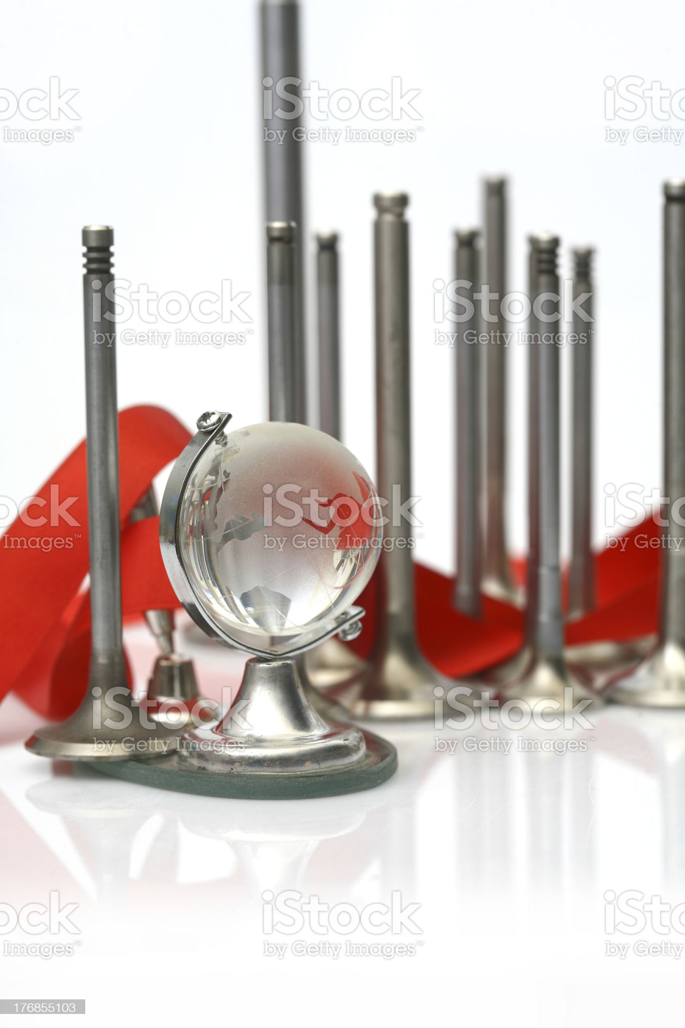 Engine spare parts valve view royalty-free stock photo