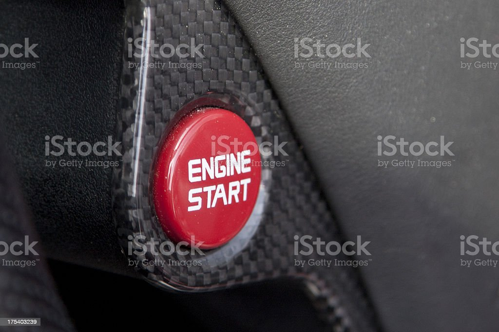 Engine Start Button royalty-free stock photo