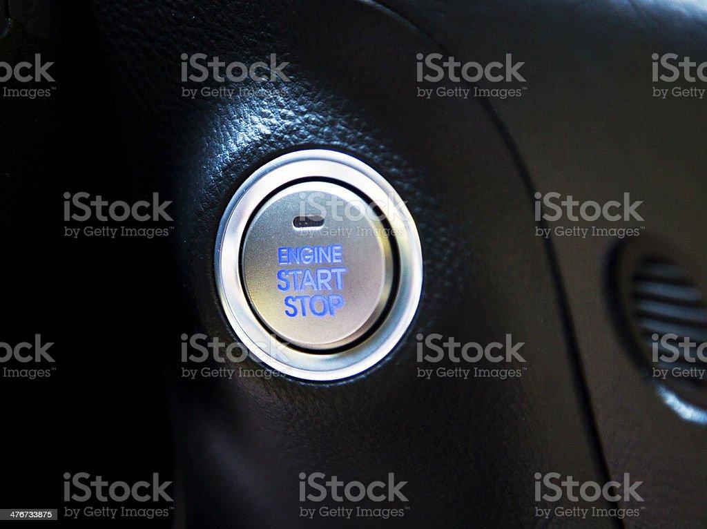 Engine Start Button royalty-free stock photo