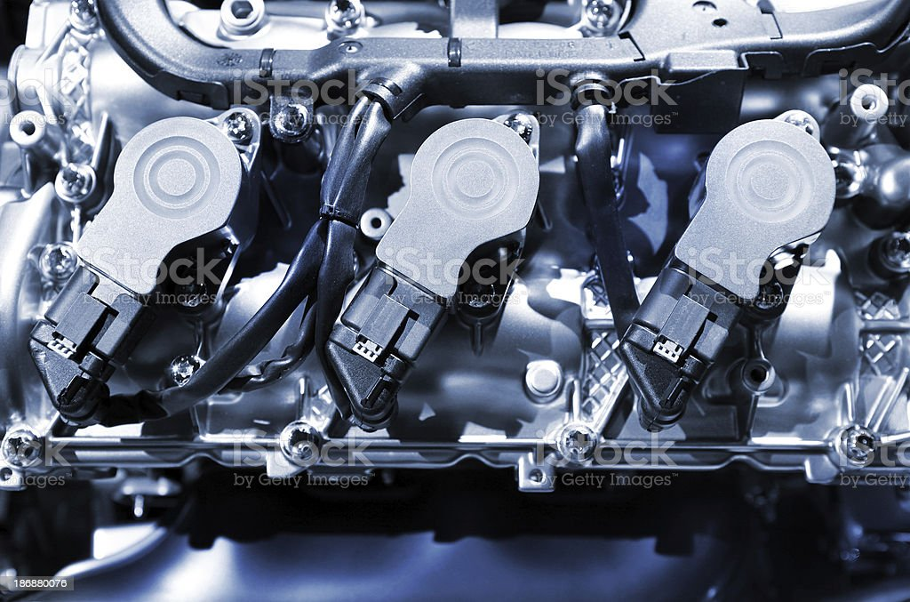 engine top view royalty-free stock photo
