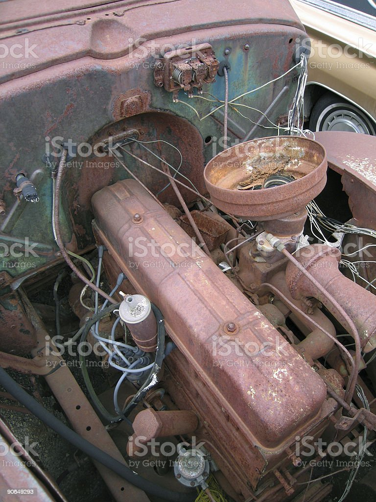 Engine Trouble royalty-free stock photo