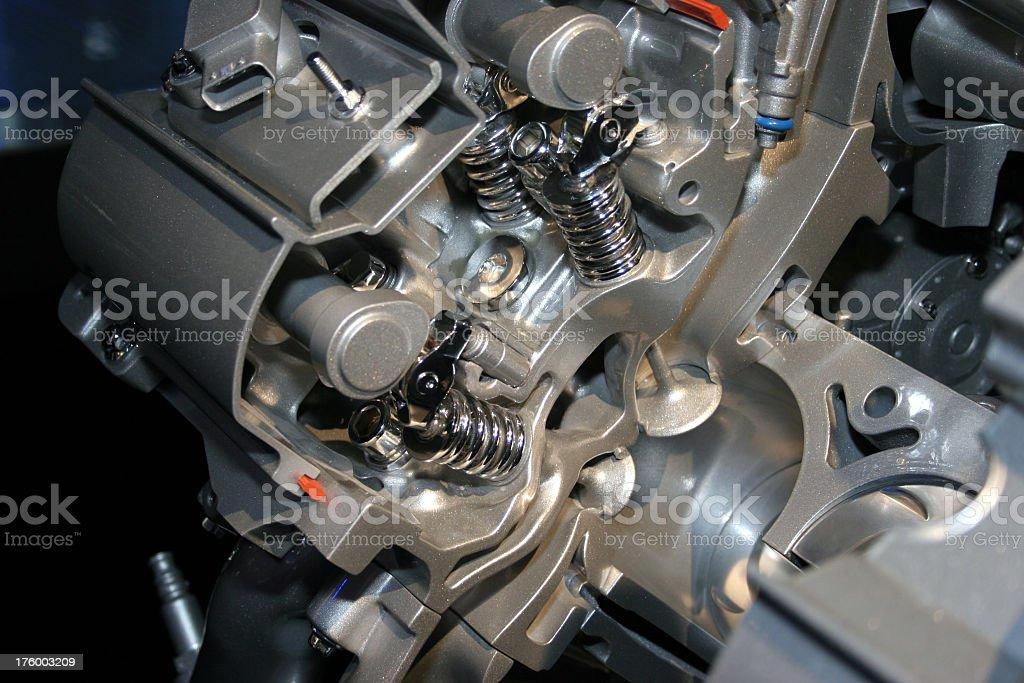 Engine Valves cutout stock photo