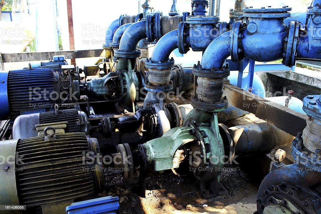Engine water pump stock photo