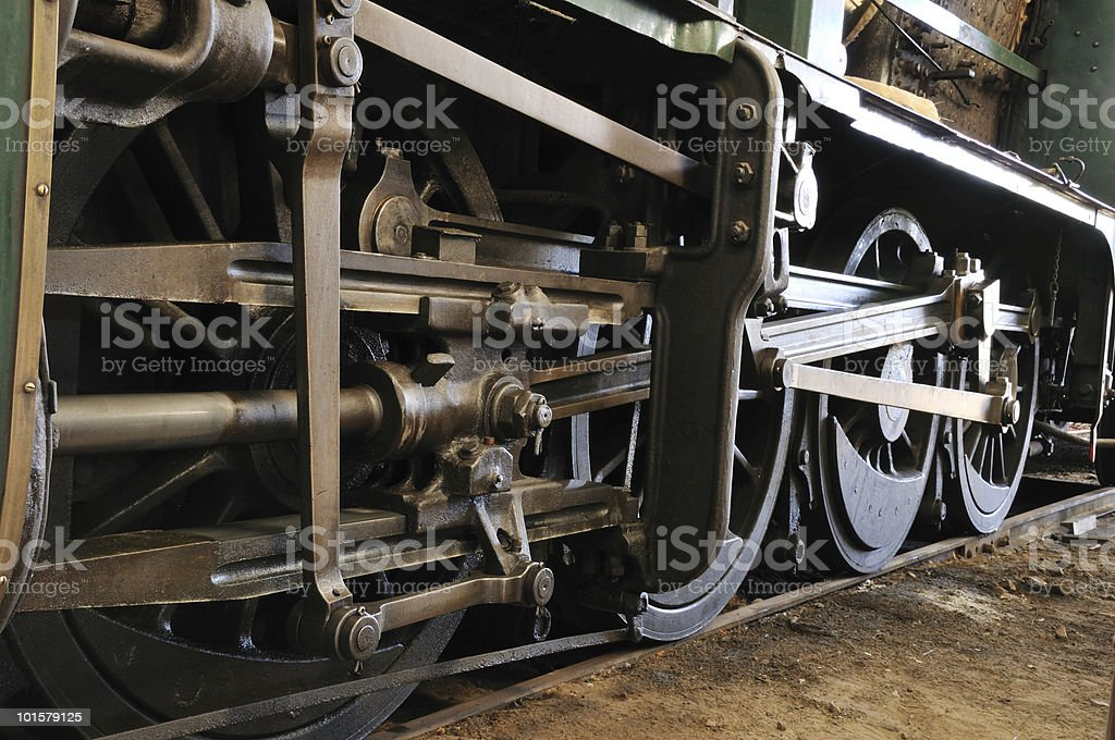 Engine wheels and rods royalty-free stock photo