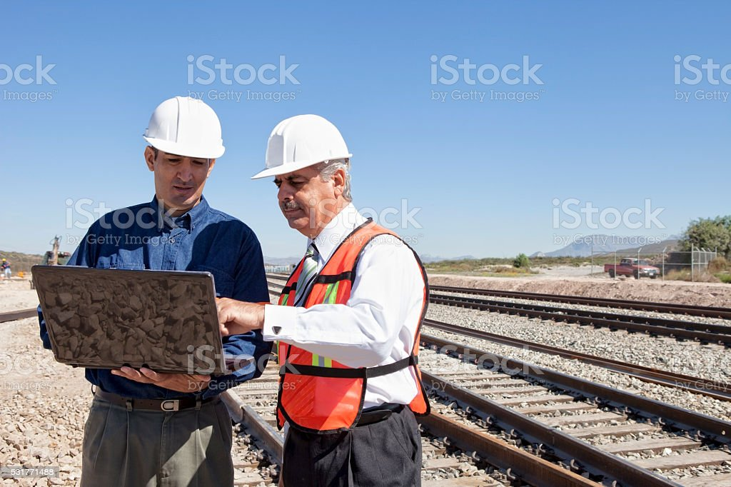 Engineer and Businessman stock photo