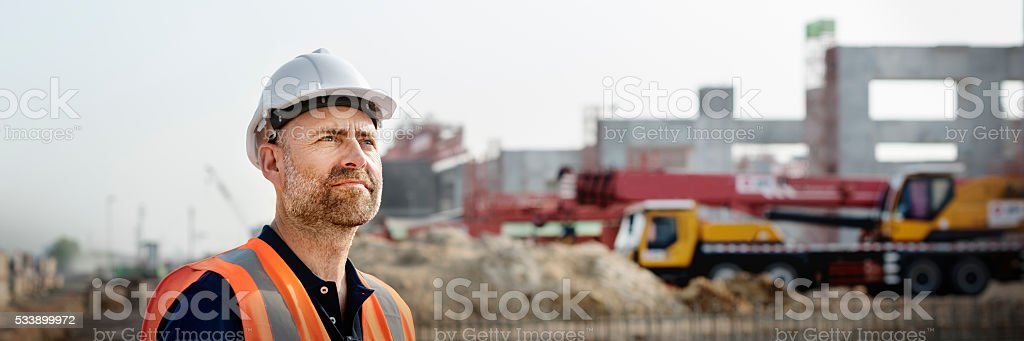Engineer Architect Construction Site Planning Concept stock photo