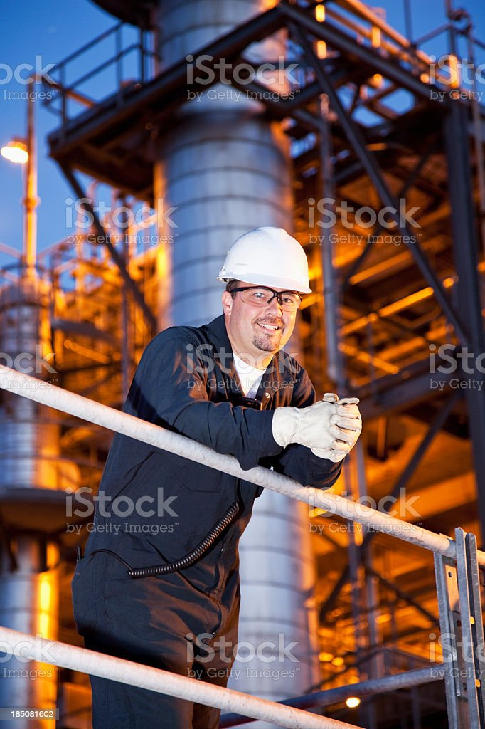 Engineer at chemical plant royalty-free stock photo